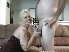 Sexy MILF sucks a cock