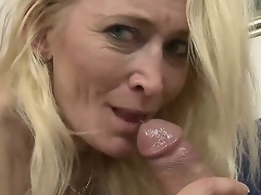 Large ass granny loves it when a young throbbing cock penetrates her deep as that babe screams