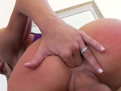 Jordan Ash plays hide the salamy with Blonde Amy Brooke in anal act