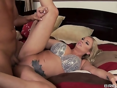 Briana Banks tells her spouse this sweetheart wants to try and earn an extra buck by doing solo porn,but the producer Keiran Lee talks her into fucking him in front of her hubby for greater quantity cash!