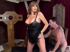 This wild blonde milf Darla Crane is one sexy piece of ass, letting her giant billibongs show in a leather corset as shes on all fours with Jack Vegas licking her soaked big ass!
