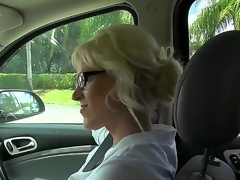 This milf is just awesome, coz this babe loves to fuck with strangers. Moreover, this babe is fond of doing it on camera and this day this babe is fucking for us. Just take a look how this babe sucks