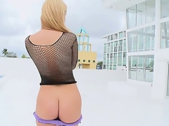 We brought in the sexy Jessie Rogers and I think this might be the sexiest ass I have seen. She walk around the pool and began to wank my buddy.