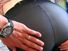 The MILF hunter pounded her sweet pussy as her giant bumpers and soaked ass bounced around.  That sweetheart got man milk all over her glamorous face. Enjoy the video!