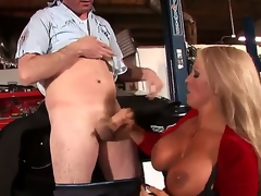 Alura Jenson is the kind of MILF we all dream about: blonde hair, tanned skin, gigantic knockers .... Did I mention she just can't live without sucking juvenile cock Well, she of course does!