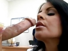 Hawt momma Mikayla feeds her hungry face hole with her excellent man's sausage