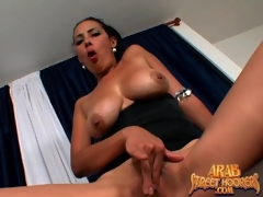 Arab milf in hawt striptease and oral-job clip