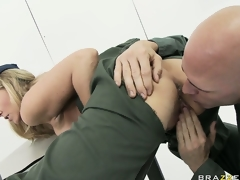 MILF playgirl Julia Ann rammed hard in the army by a horny soldier