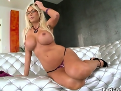 Pretty Swedish Pornstar with large tits Puma Swede showing her awesome body