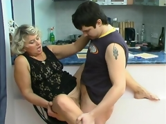 Impure mature chick knows how to please younger dude in suck-n-fuck act