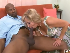 Divorce is the MILF fans greatest ally. Without a stale marriage and a posterior divorce, Connie wouldnt be getting her mouth, pussy and arsehole filled with a thrusting BBC right now. This is her 1st black man. I had anal sex in grad school and I?havent had it since, so I dont know if itll fit, Connie had told Dave about her chocolate gap boffing. Stone swings a thick fucker. Can Connie take that in her heinie-hatch? Youve seen the photos. Connie looked like she was loving her chocolate gap drilling in different positions. If her ex ever sees this, hes going to need therapy. This man would never tag her tush let alone really ram her rump when this guy had her in his bed. I liked it when I?had anal sex in grad school. It was great. I?love anal sex with a hand stimulating my clit. That was my favorite. I like the pressure. I like that a lot. Its a different kind of pressure, and it feels really good. And now that Connie McCoys had the hard chocolate fucksicle only at 50PlusMilfs.com, is her pleasant tooth satisfied? What else does she want to try in the near future? We shall see.