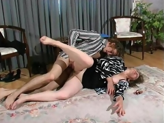 Curious mature gal aching to put guy's cock in the open for doggy position bout