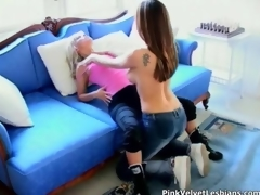 Surprising lesbians sucks fucks together with lick movie 2