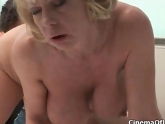 Dirty blonde old bag goes paradoxical sucking clip 5
