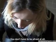 Nasty blonde slut gets horny sucking clip 8