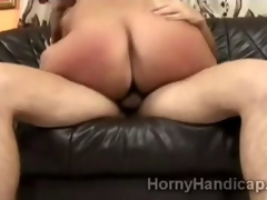 Hot blond undermine goes horny put in place young big dick