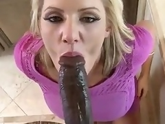 Huge dark dong for beautiful milf Zoey Holiday