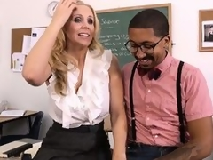 Hawt tow-haired teacher Julia Ann seduces their way student far order to fulfill their way using
