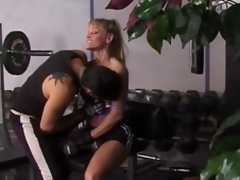 Fit golden-haired milf acquires unforgettably drilled in a gym