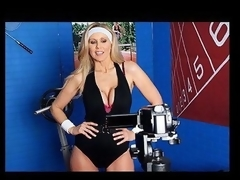 Julia Ann is a hyper fitness freak putting jointly an edgy workout DVD. That Babe has not quite everything this babe needs: glamorous bouncing love muffins, an awesome firm body, a vigorous routine, but still lacks a certain `je ne-sais-quoi` to make it complete. One Time this babe spots Tony Ribas in the gym, this babe comes up with a recent idea for the DVD that all sexually active women can have a joy by putting her love bubbles into action and sweating herself into a sexy frenzy!