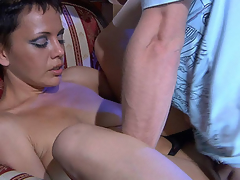 Dazzling mother i'd like to fuck opens up her legs to acquire worshipped and drilled by a handyman